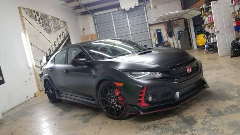 Satin Black Honda Civic Type R