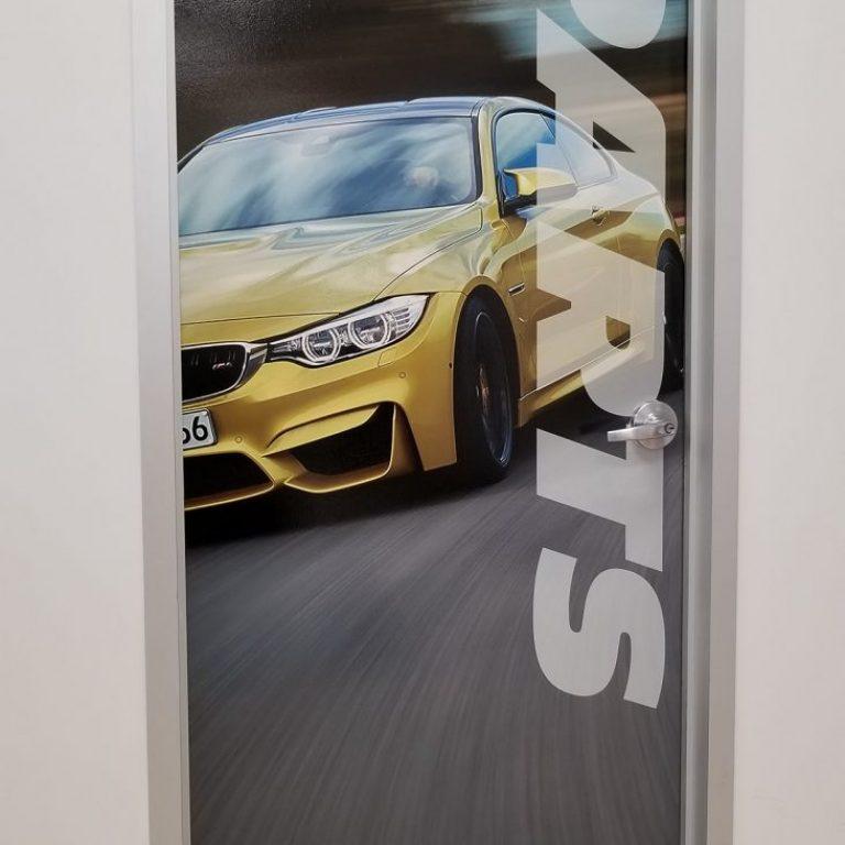 BMW of Columbia Door Wraps