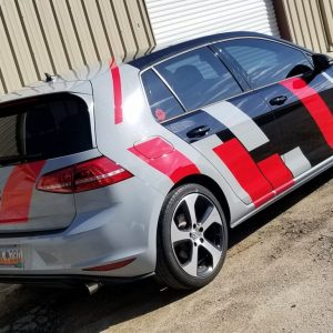 Nardo Grey Carmine Red VW GTi