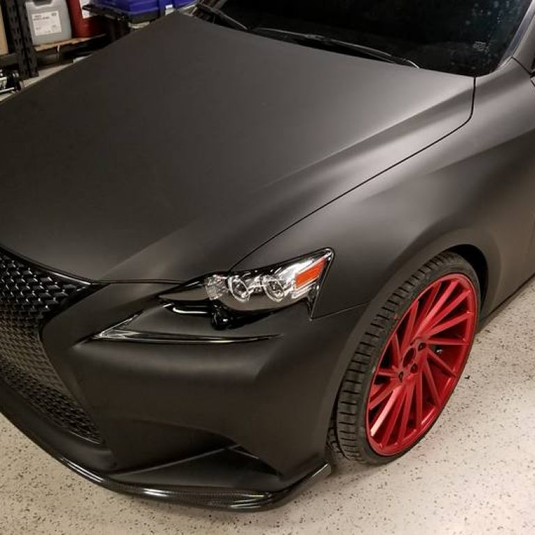 Matte Black Lexus IS350