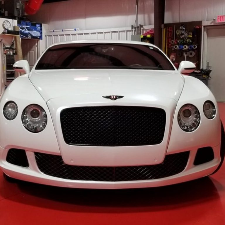White Diamond Bentley Continental GT